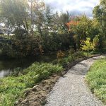 The new gravel path along the Ottawa River starts behind the Law Center and extends to Secor Road.