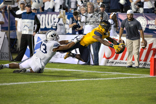 Running back Terry Swanson scored Toledo's first touchdown in the first quarter with an 8-yard run.