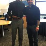 Tyrone Jacobs Jr. met LinkedIn CEO Jeff Weiner last month.