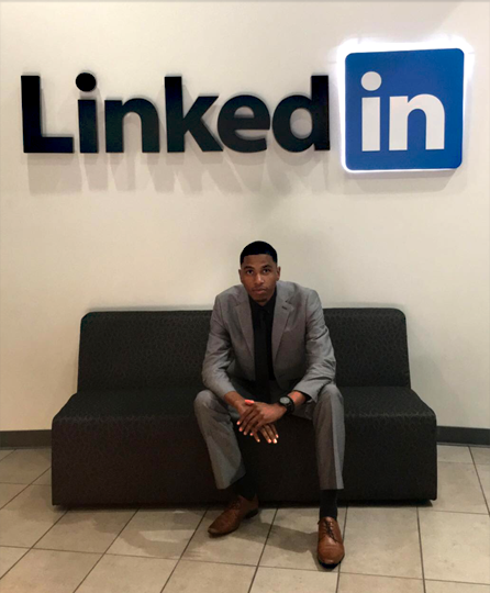 Tyrone Jacobs Jr. visited LinkedIn headquarters in California last month. The networking company featured the UT student in a campaign.