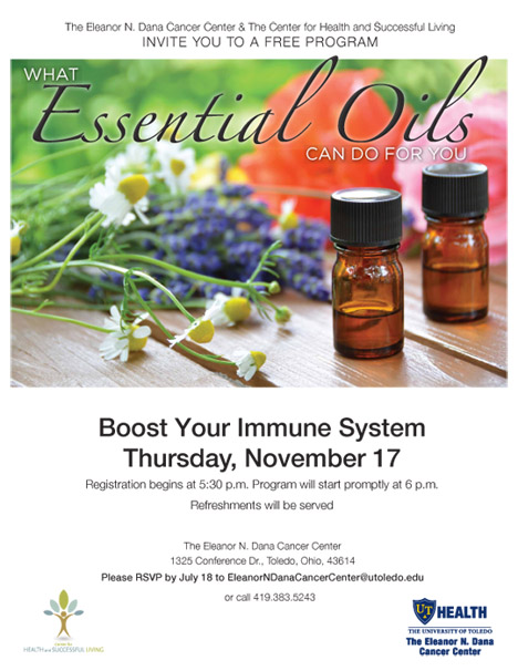 UTH 40 0915 Essential Oils event poster