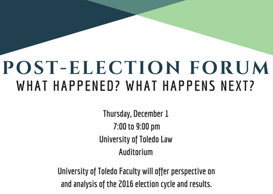 web Post-Election Forum flyer
