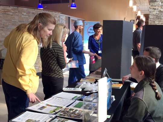 UT employees on Health Science Campus recently attended a fair to meet representatives from some of the 220 charitable organizations that benefit from the University's Community Charitable Campaign.