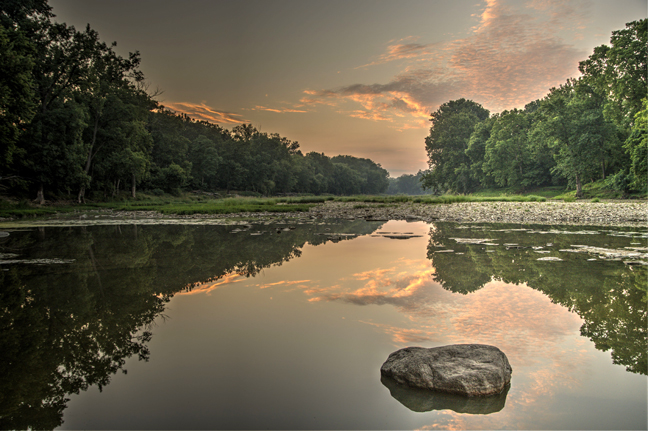 Ginny Sussman placed first in the adult category with this photo of the Maumee River at Side Cut Park.