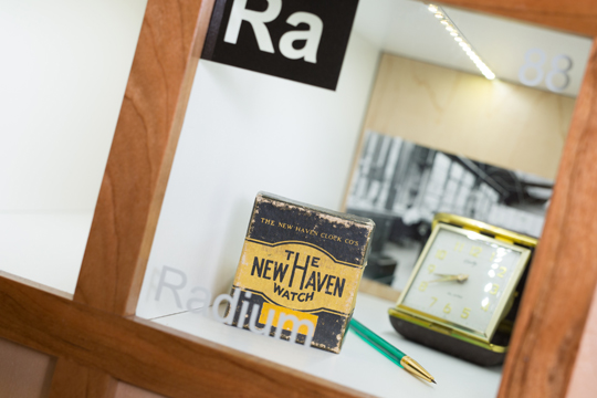 The display in the radium box was created by Joe Slater, the UT Eugene N. Balk Professor of Law and Values.