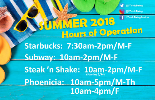 Ut News Blog Archive Dining Options Hours For Summer Announced