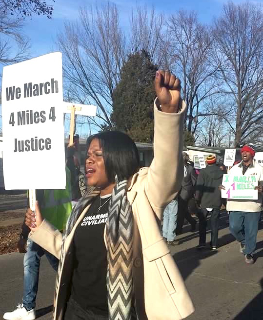 Cori Bush, pastor of Kingdom Embassy International, participated in 4 Miles 4 Justice event to fight for human rights.