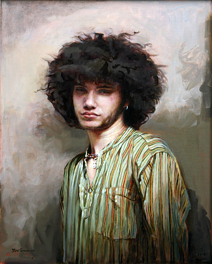 """Marley Turner,"" oil, by Jennifer Diaz Warner Giovannucci, technician in the Department of Neurosciences is included in the 2016 Health Science Campus Artist Showcase."