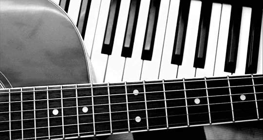 piano and guitar image