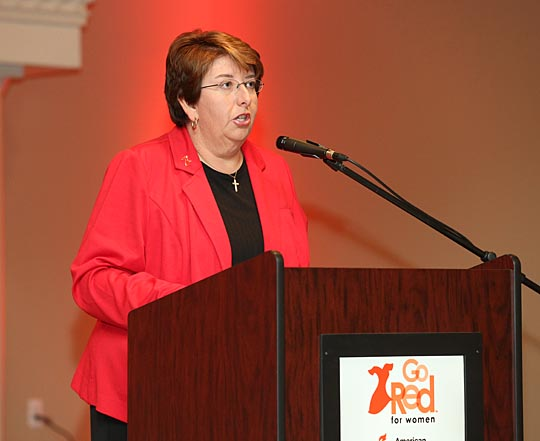 UT Women's Golf Head Coach Nicole Hollingsworth gave the keynote address at the 10th annual Go Red for Women Luncheon last fall.