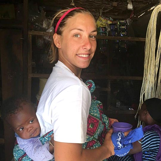 UT alumna Katie Alber is a health extension volunteer through the Peace Corps in the West African country of Gambia.