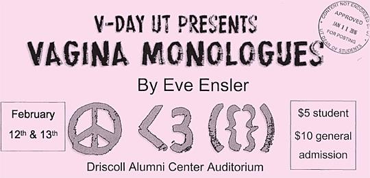 Vagina Monologues 2016