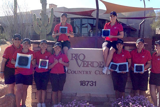 The UT women's golf team scored an 11-stroke victory at the Rio Verde Invitational in Arizona.