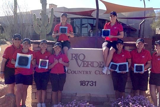 The UT women's golf team scored an 11-stroke victory at the Rio Verde Invitational in Arizona.