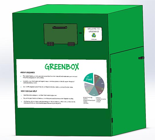 UT students are building the Greenbox prototype for food recycling this semester.