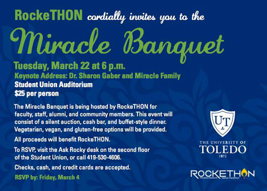web RockeTHON miracle dinner invite