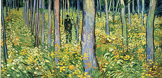 """Undergrowth With Two Figures"" by Vincent van Gogh"