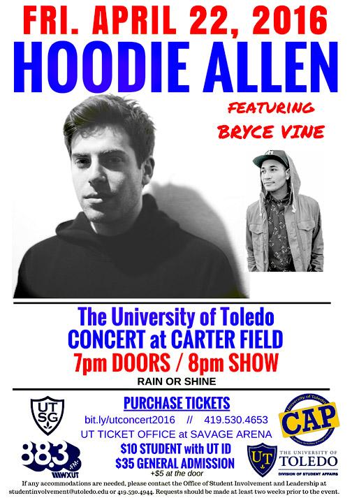 Hoodie UT Concert 2016 Poster FINAL