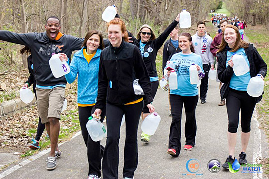 UT students participated in the 2015 Walk for Water.