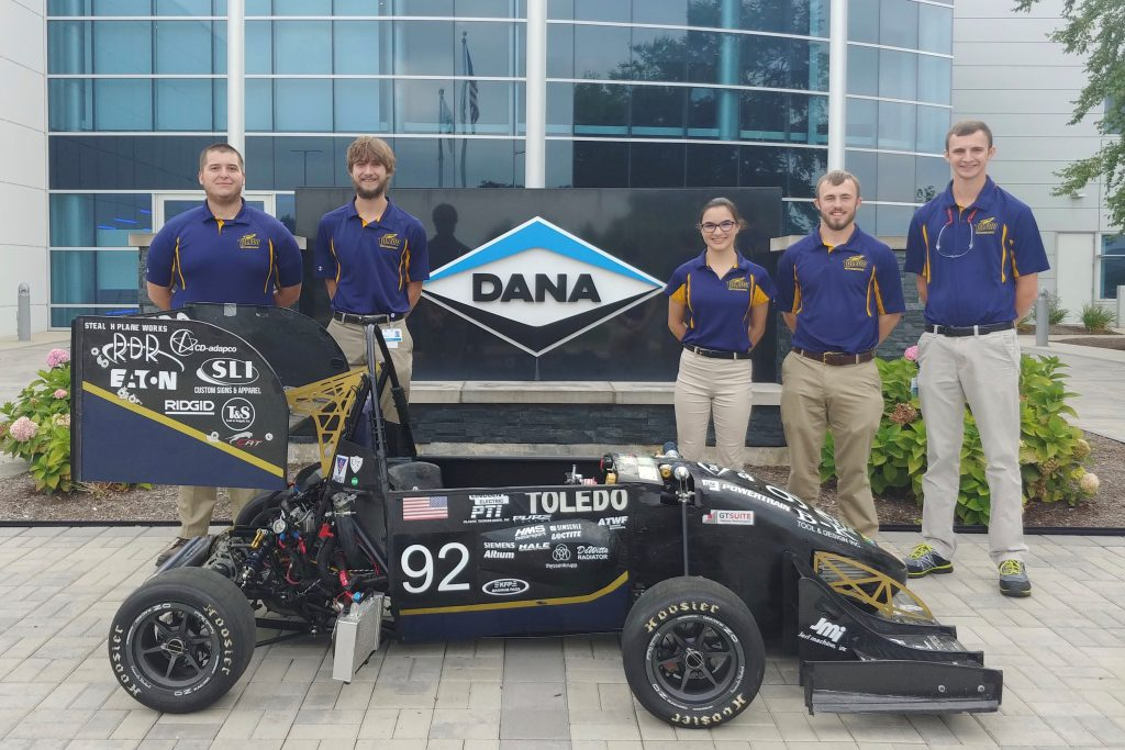 Hannah Haselhuhn and Engineering race car team