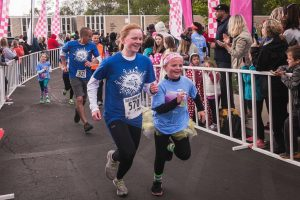 Stephanie Sherman runs as part of Girls on the Run event
