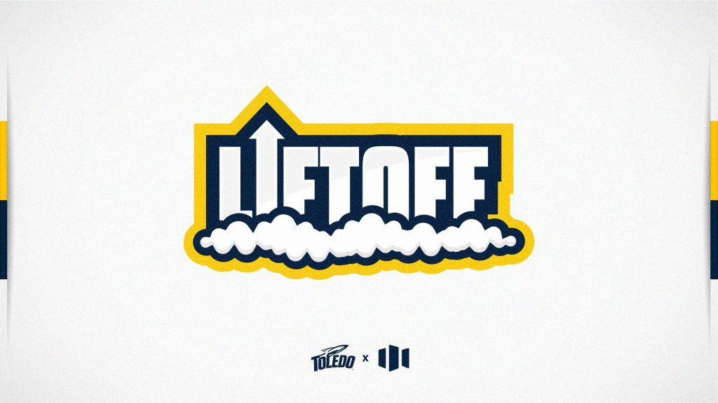 Liftoff logo text in which the i is an arrow pointing upward with smoke underneath the letters